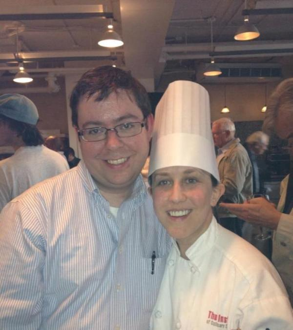 My wonderful husband Marc with me at my culinary school graduation.
