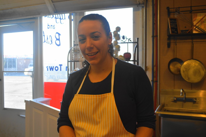 Lauren, the owner of Buttons Creperie. She is awesome, I love talking to her about food!