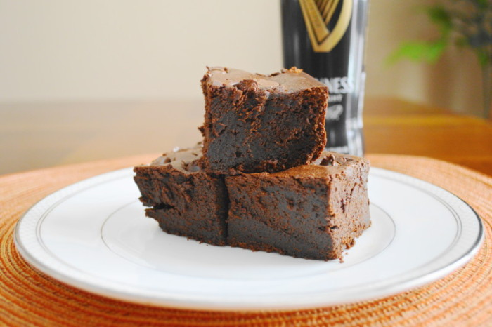 Boozy Stout Brownies