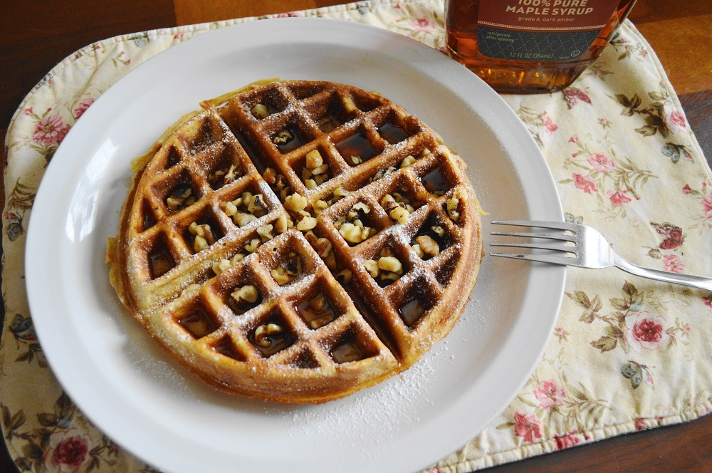 Brown Butter Spiced Belgian Waffles