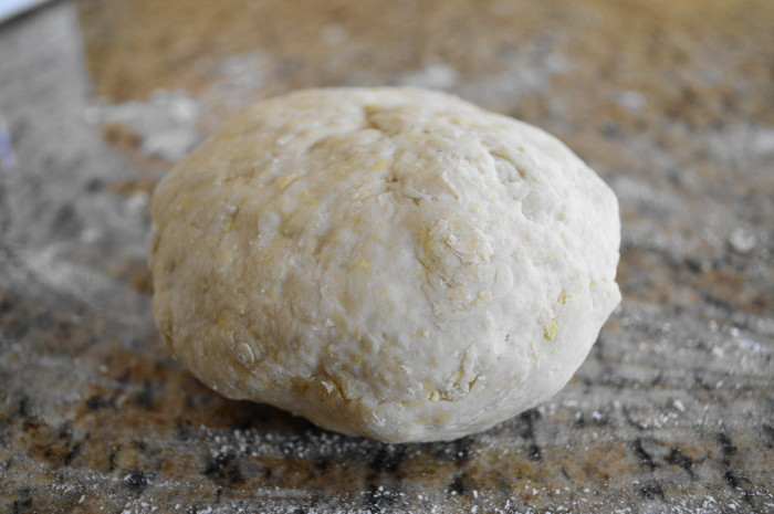 Pretty little ball of homemade pierogi dough!