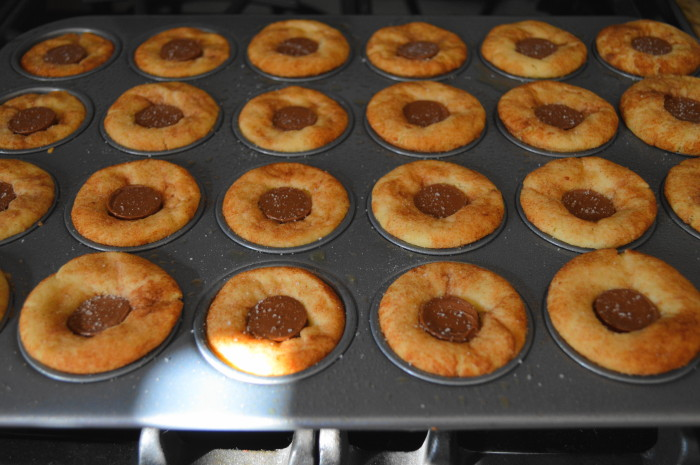 The salted caramel snickerdoodle bites fresh out of the oven and completed!