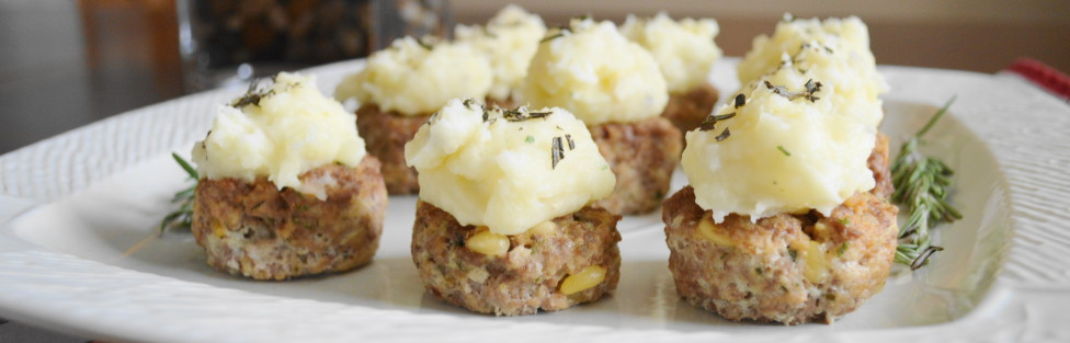 Mini Lamb Cakes with Garlic Herb Potato Frosting