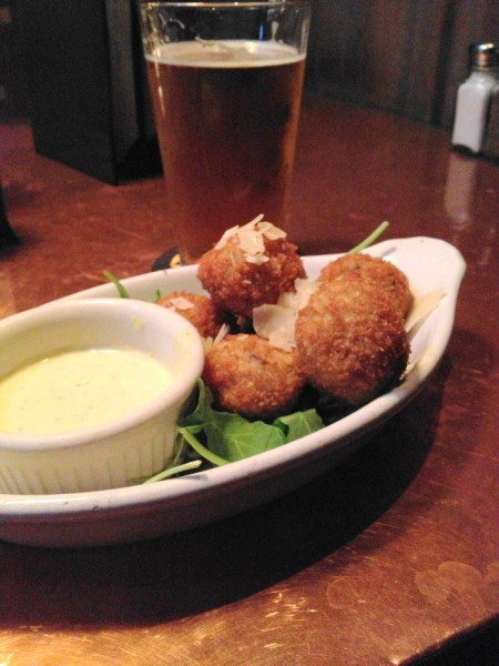 The mushroom arancini at Triumph Brewing Company. So incredible!