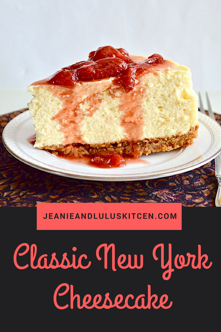 Classic New York Cheesecake with Strawberry Balsamic Sauce
