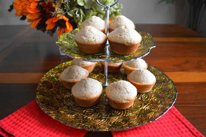 Rose Cardamom Muffins