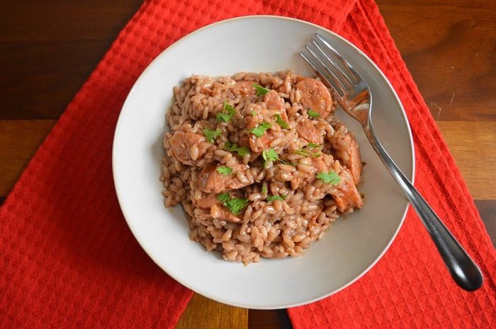 Spicy Andouille Risotto