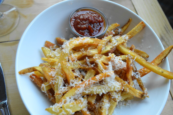 The truffle parmesan pomme frites. French fries have never been so fancy or yummy!