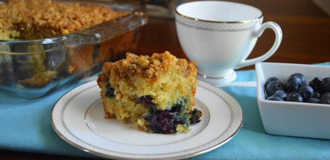 Blueberry Mascarpone Crumb Cake