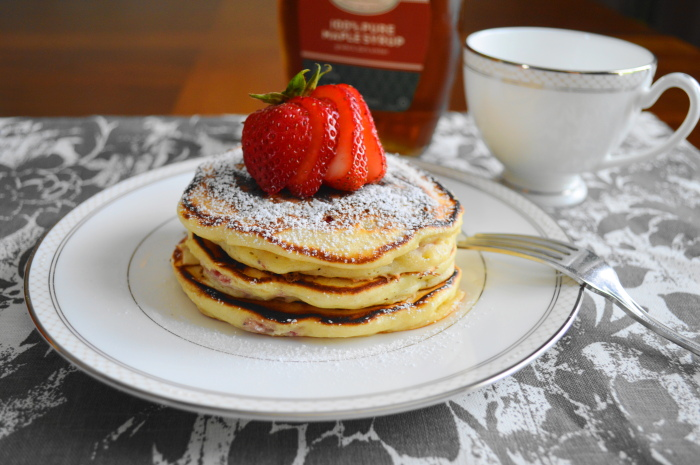 Strawberry Lemon Ricotta Pancakes