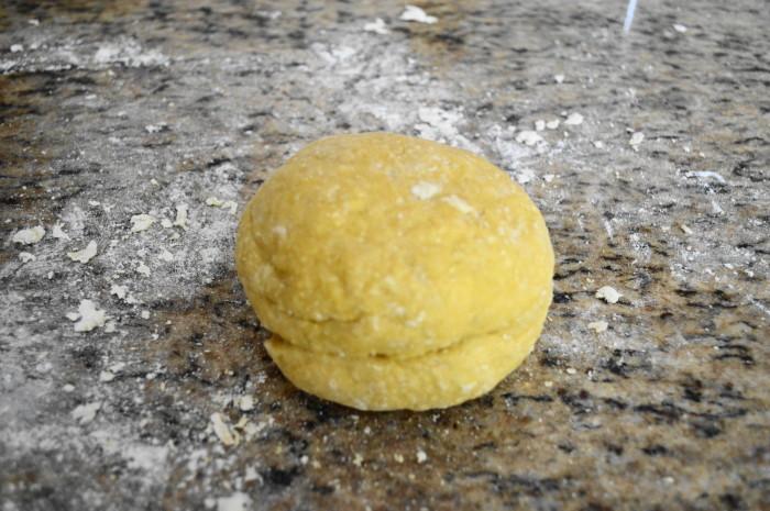 Perfect little ball of pasta dough.