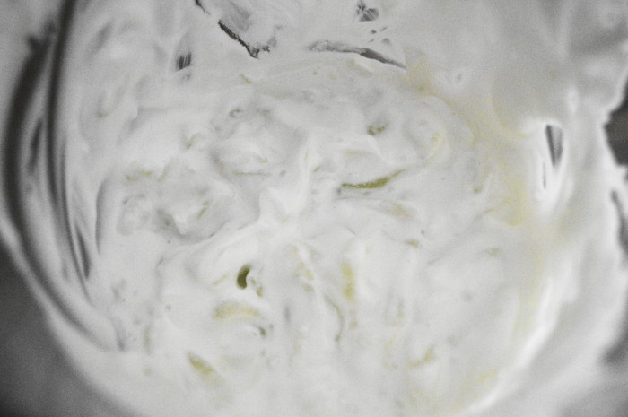 The yogurt sauce all combined.