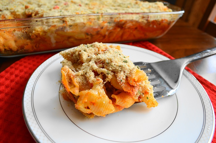 Sausage, Pepper and Onion Pasta Bake