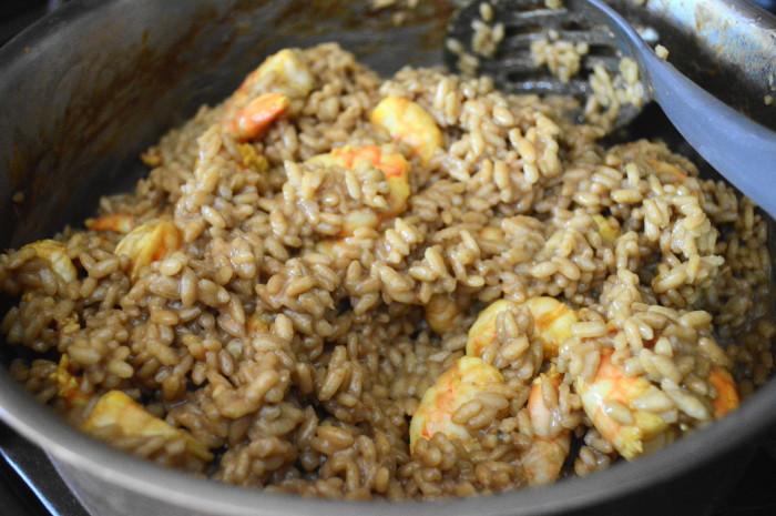 The curried shrimp risotto all ready!
