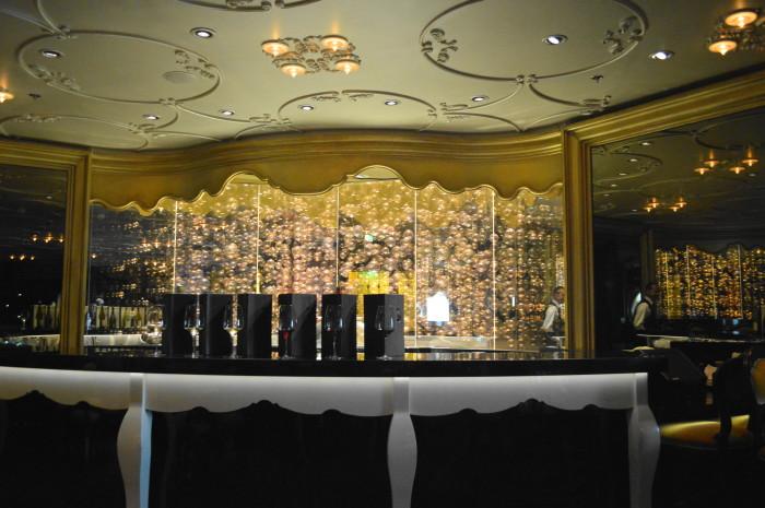 Ooh La La Lounge set up for a wine tasting.