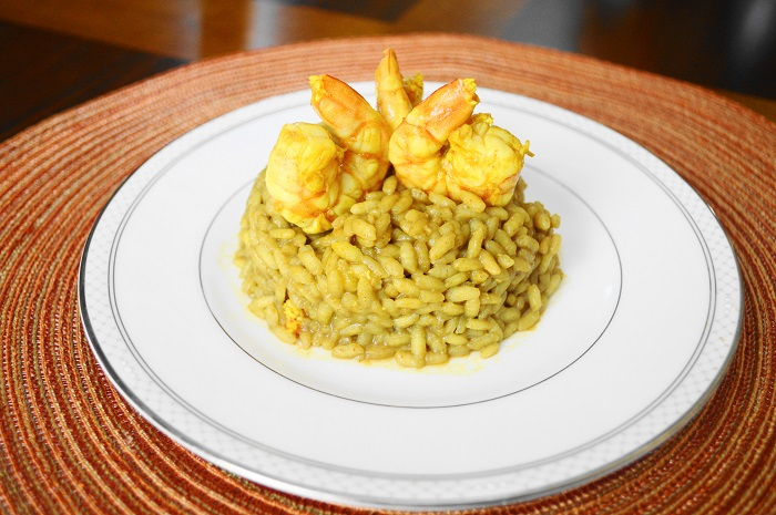 Curried Shrimp Risotto