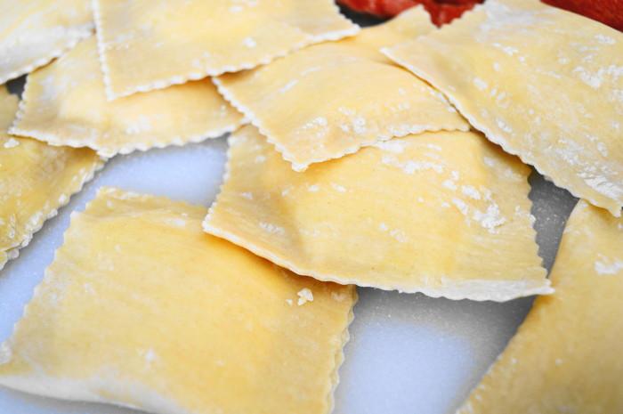 Fresh pasta making means the most incredible handmade ravioli!