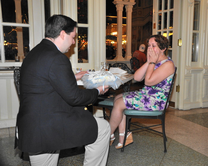 Marc proposing...I still tear up every time I see this photo.