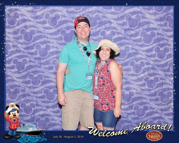 Our boarding photo onto the gorgeous Disney Fantasy.