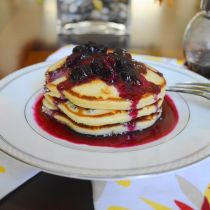 Blueberry Mascarpone Pancakes