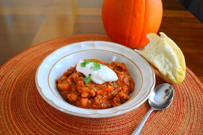 Meaty Pumpkin Chili