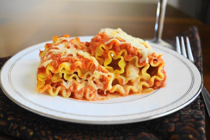 Shrimp Scampi Lasagna Rolls