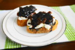 Goat Cheese, Fig, and Balsamic Crostini