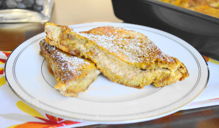 Baked Pumpkin French Toast Sandwiches