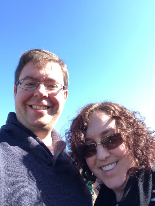 Hubby and I enjoying the gorgeous day of Fall fun at VonThun Farms.