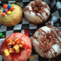 The delectable 4 pack from the Undrgrnd Donuts Truck