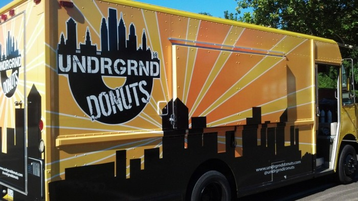 The majestic Undrgrnd Donuts food truck.