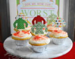 Ugly Sweater Eggnog Cupcakes