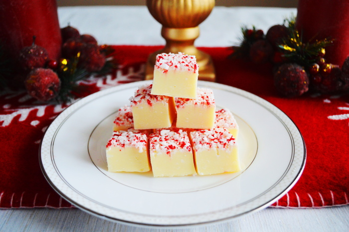 White Chocolate Peppermint Fudge