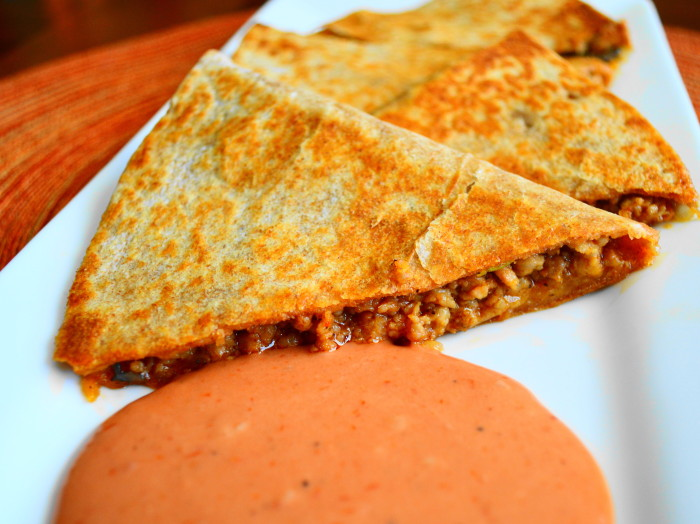 Spiced Pork Quesadillas