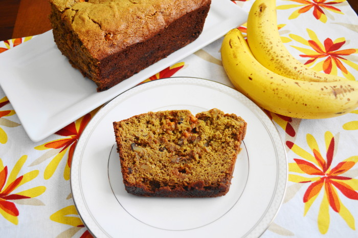 Banana Walnut Butterscotch Bread