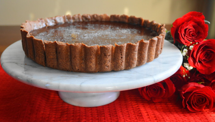 Champagne Rose Chocolate Tart