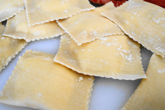 The four cheese ravioli were looking gorgeous! I was so happy. Fresh pasta has that effect on me.