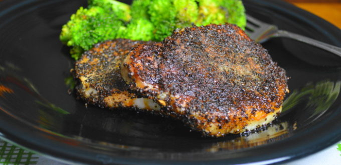 Coffee Crusted Pork Chops