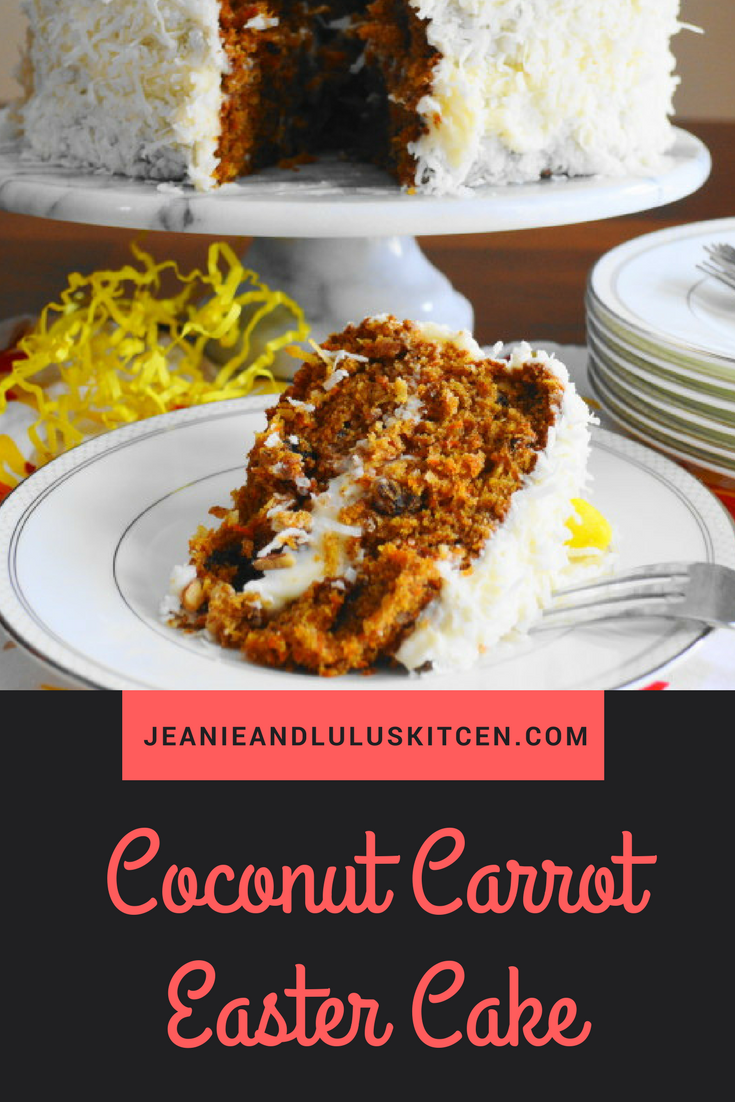 Coconut Carrot Easter Cake