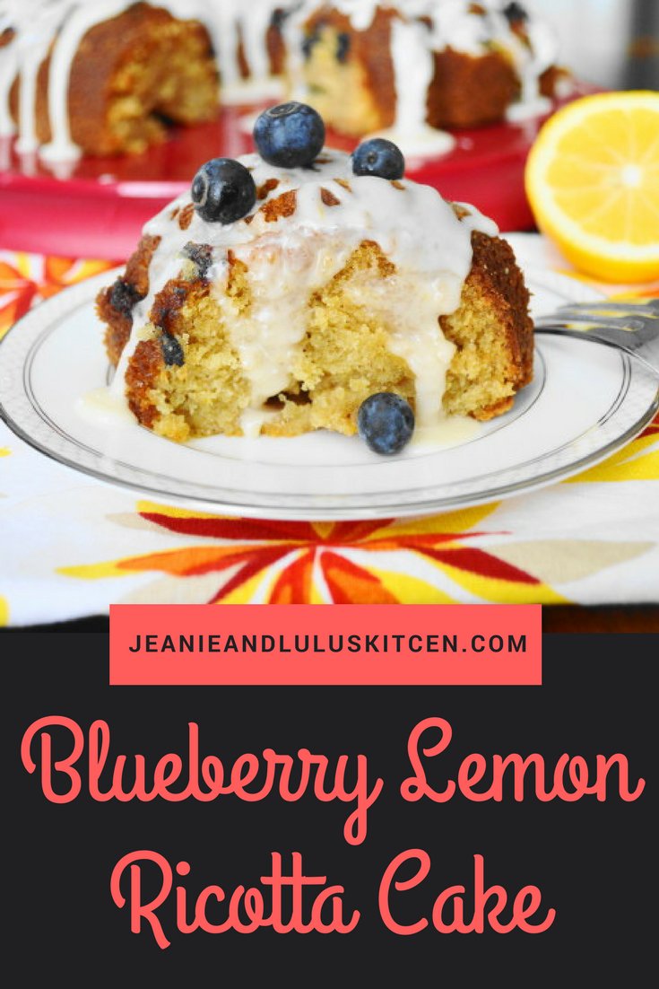Blueberry Lemon Ricotta Cake