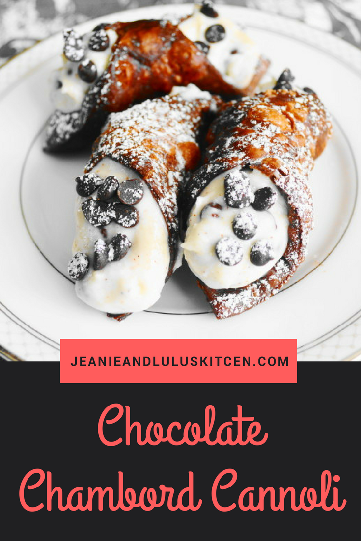 Chocolate Chambord Cannoli