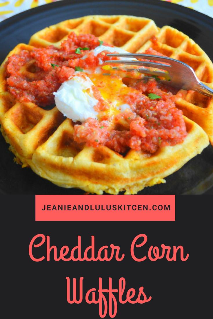 Cheddar Corn Waffles
