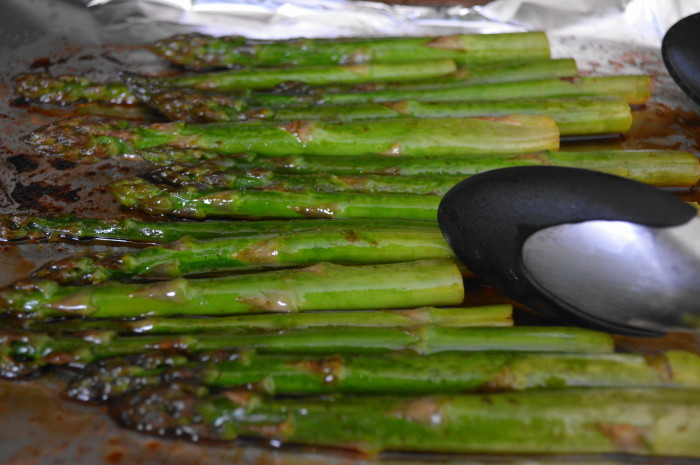 The Asian roasted asparagus was so fragrant when it came out of the oven!