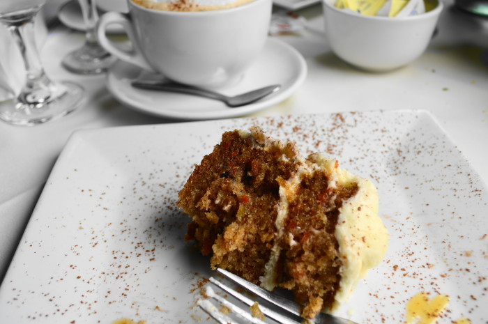 I was so excited about my carrot cake at Iccara that I was halfway through my slice before I remembered to take a picture. Oops!