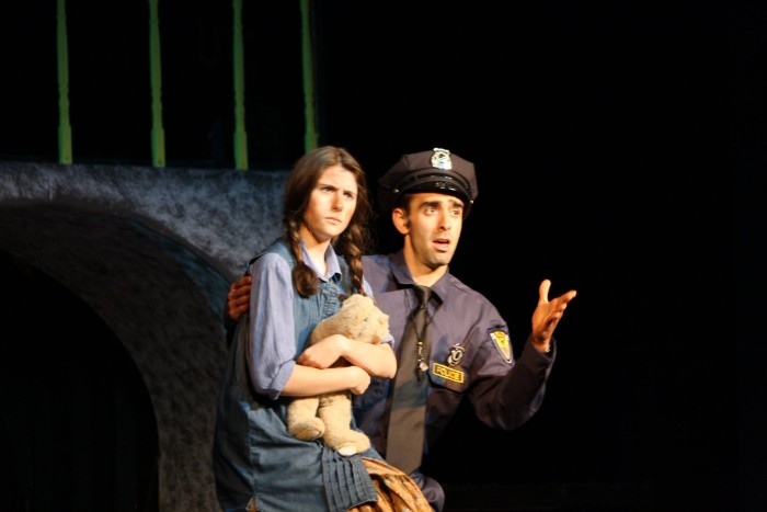 Officer Lockstock and Little Sally contemplating the state of things. They are played so brilliantly by Frank Falisi and Catherine Circonciso
