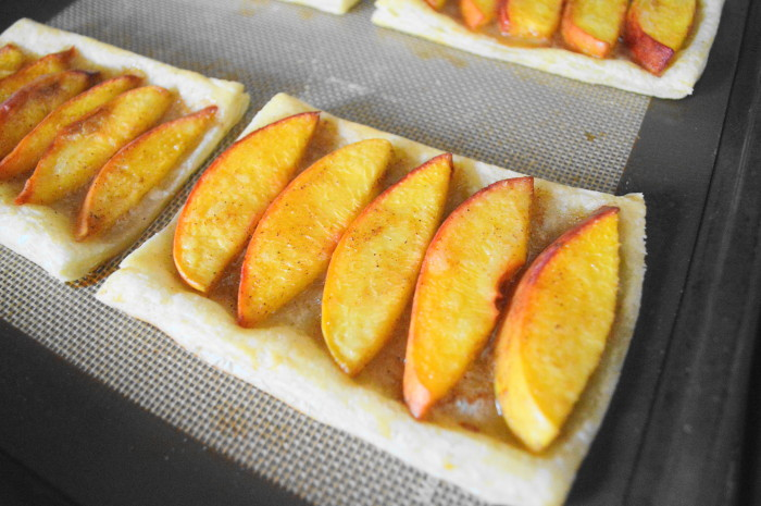 20-25 minutes was all it took for bourbon peach tartlet goodness!