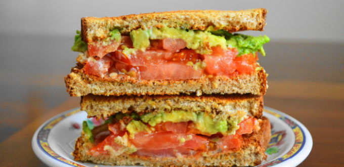 Tomato Avocado Ranch Sandwich