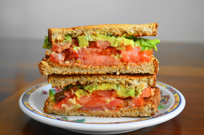 Tomato Avocado Ranch Sandwich