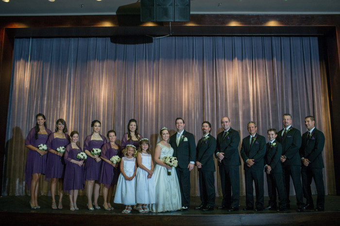 That is one good looking wedding party! I love those faces so much.