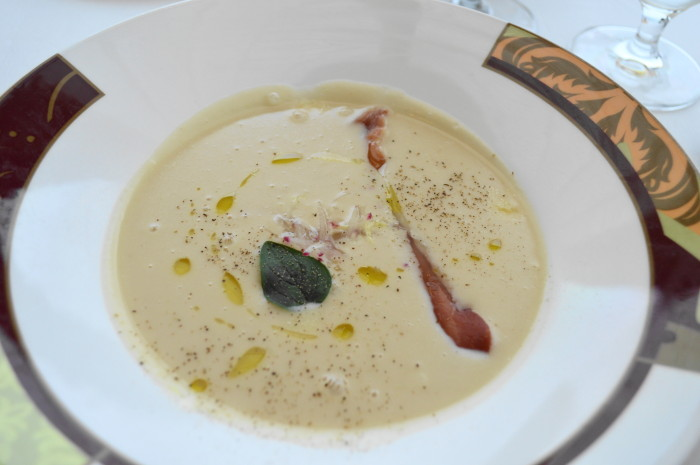 Marc went with the Tuscan white bean soup for his appetizer at Palo!